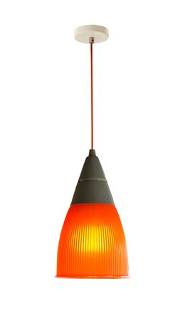 Modern hanging lamp, isolated on white background. Imagens