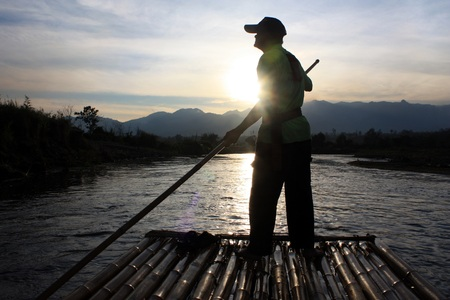 rafter: A rafter in Pai river Stock Photo