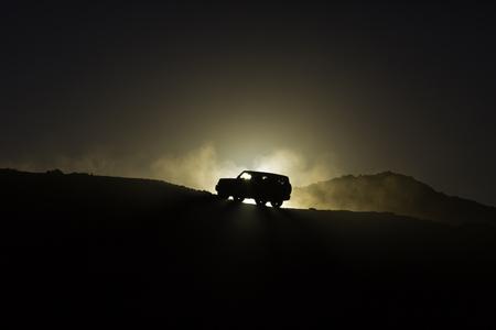 sport utility vehicle: Hillside sport utility vehicle