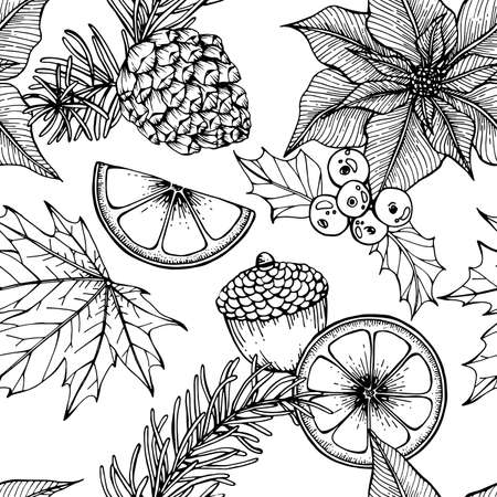 Christmas pattern seamless background.