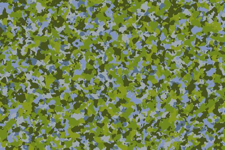 Swamp camouflage (Fresh Green - Blue Water). Fashion pattern for use in the army to camouflage in war or hunting. Including swamp explorers, travelers and hikers. Inspired by the swamp