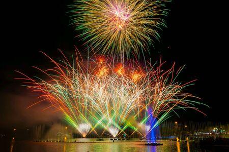 colour: firework festival Stock Photo