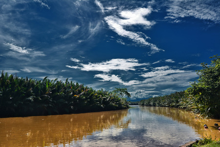 beautiful river in the province of South Sulawesi photo