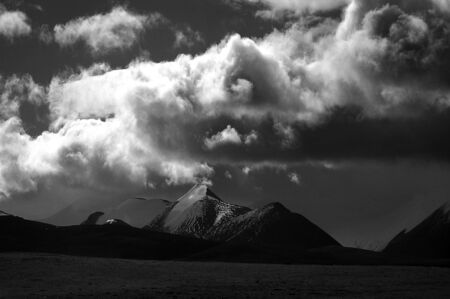Black and white Mountain photo