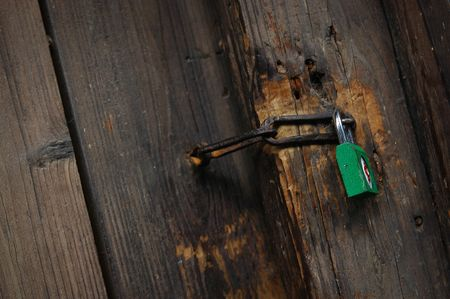 Green lock Stock Photo - 8095565