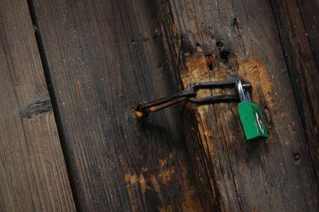 Green lock Stock Photo - 8095565