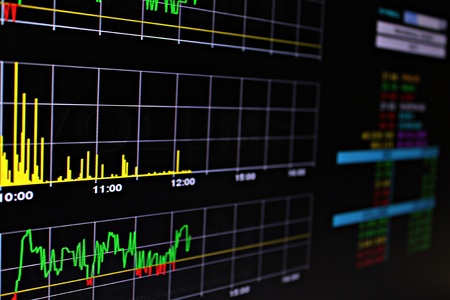 brent: Business or finance background : Display of stock market or stock exchange data on monitor, stock market or stock exchange chart Stock Photo