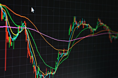 brent crude: Business or finance background : Display of stock market, stock exchange data or graph on monitor, stock market, stock exchange chart or graph