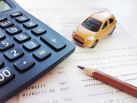 Business, Finance, Savings, Banking Or Car Loan Concept : Miniature ...