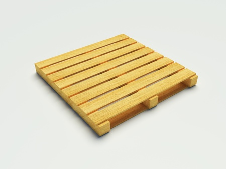 Wooden pallet on the white background photo