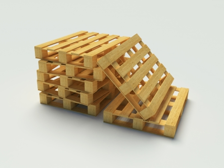 Wooden pallet on the white background Stock Photo - 12375059