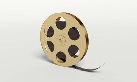 film reel met een film strip op het knutselen met achtergrond
