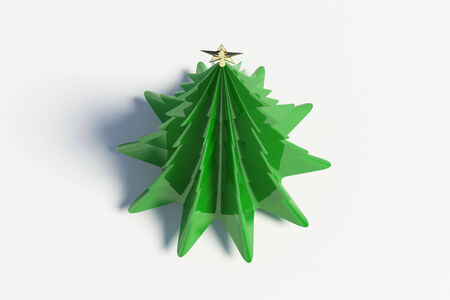 3d Kerst boom op witte achtergrond