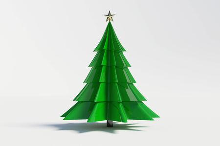 xmas tree: 3d christmas tree on white background