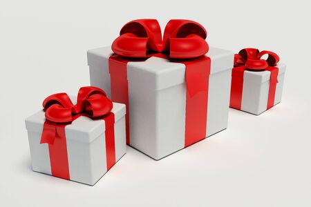 gift box op een witte achtergrond 3D-afbeelding