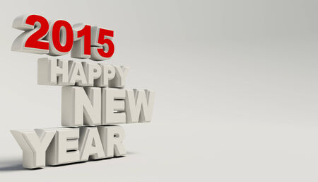 Render van Happy new year 2015 Stockfoto