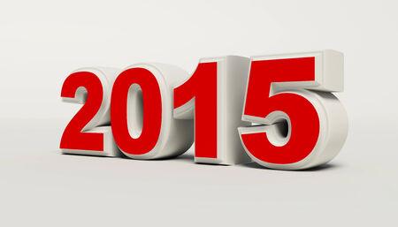 Nieuwjaar 2015 op een witte achtergrond Stockfoto