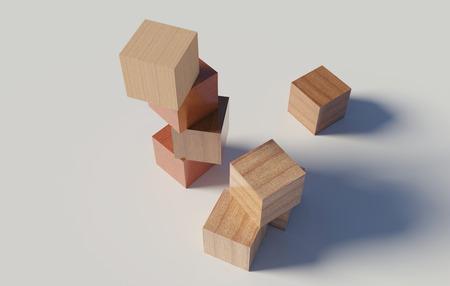 houten blokken op een knutselen met achtergrond