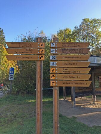 signposted: Zwiesel Stock Photo
