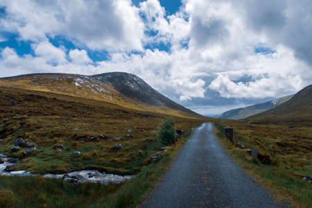 donegal, ireland, errigal, bog, landscape, peat, blue, clouds, field, forest, green, high, irish, lake, lough, moors, mountain, nacung, nobody, tree, sturf, water, white