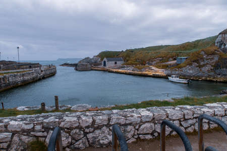 the small harbor at Ballintoy on the North Antrim Coast in Northern Ireland