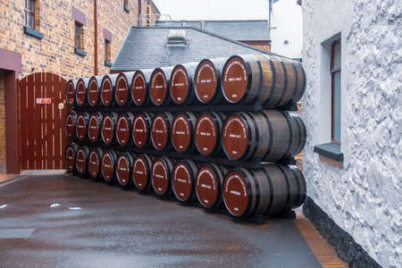 Ireland Whiskey Bushmills Editorial