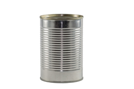 unlabeled: Single Tin Can Isolated on White Background