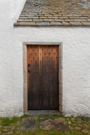 porte ancienne: Une vieille porte de la Maison Blanche Banque d'images