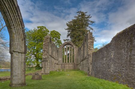 13th: The ruins of the 13th century Inchmahome Priory near Aberfoyle, Scotland