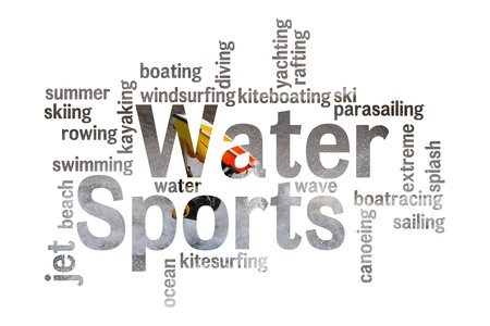 water sports: Water Sports poster concept   Stock Photo