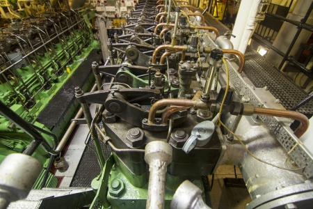 Navy diesel engines on an old Musemums ship photo