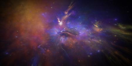 illustration new galaxy with nebel and Emissionsnebe Stock Illustration - 16950050