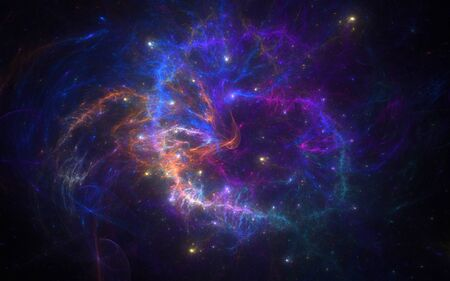 illustration new galaxy with fog and Emissions-fog Stock Illustration - 17435287