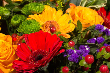 beautiful and colorful bouquet photo