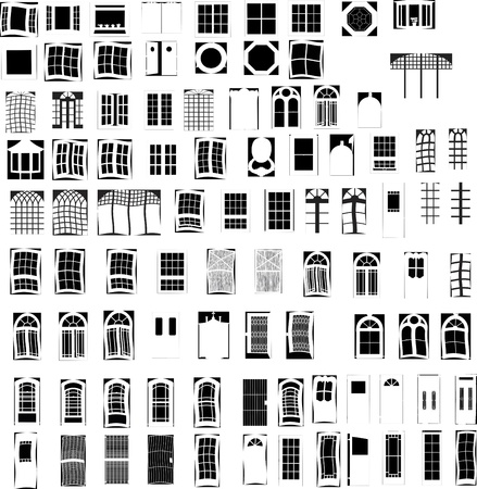 architectural elements: 92Windows y Vectoren Puertas