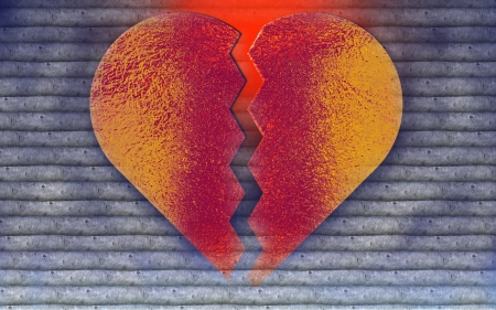 lovelorn: Broken heart - symbol of lovelorn Stock Photo