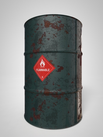 corroding container for oil and other fuel