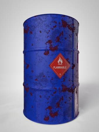 corroding container for oil and other fuel photo