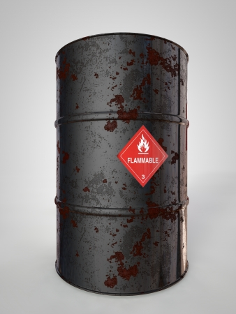 corroding: corroding container for oil and other fuel