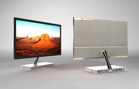 illustration and isolated LCD-TV Monitor illustration