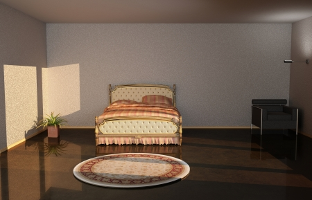 3d illustration from chair and Bedroom Stock Illustration - 20230598
