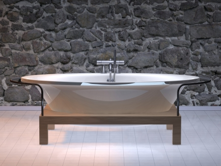 rendering illustration modern bathroom design Stock Illustration - 20238463