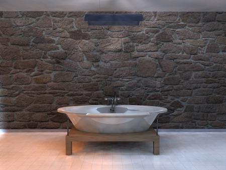 rendering illustration modern bathroom design Stock Illustration - 20238464