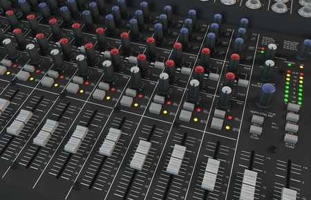 Illustration of the 3D rendered Audio Mixer Imagens