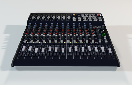 Illustration of the 3D rendered Audio Mixer illustration