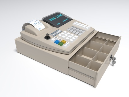 Illustration of the 3D rendered Cash Register