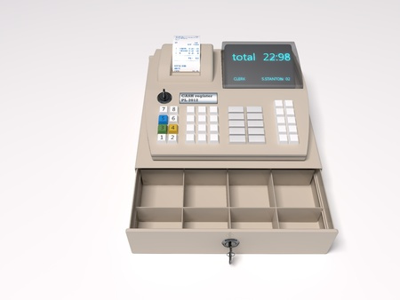 Illustration of the 3D rendered Cash Register illustration