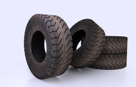earth mover: Illustration and rendering Earth Mover Tire Molds