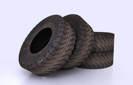 Illustration and rendering Earth Mover Tire Molds