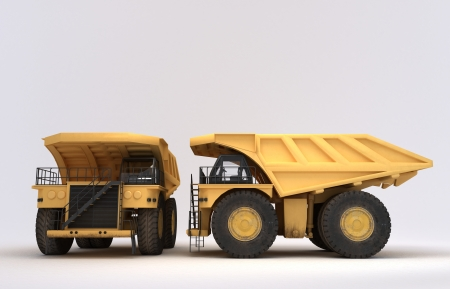 3D illustration of isolated earth mover vehicle Stock Illustration - 20855346